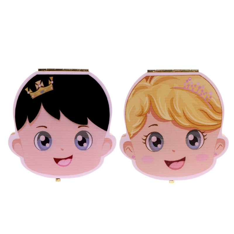 Tooth Box Organizer Kids Baby Save Milk Teeth Wood Storage Box For Boy Girl Gift W15