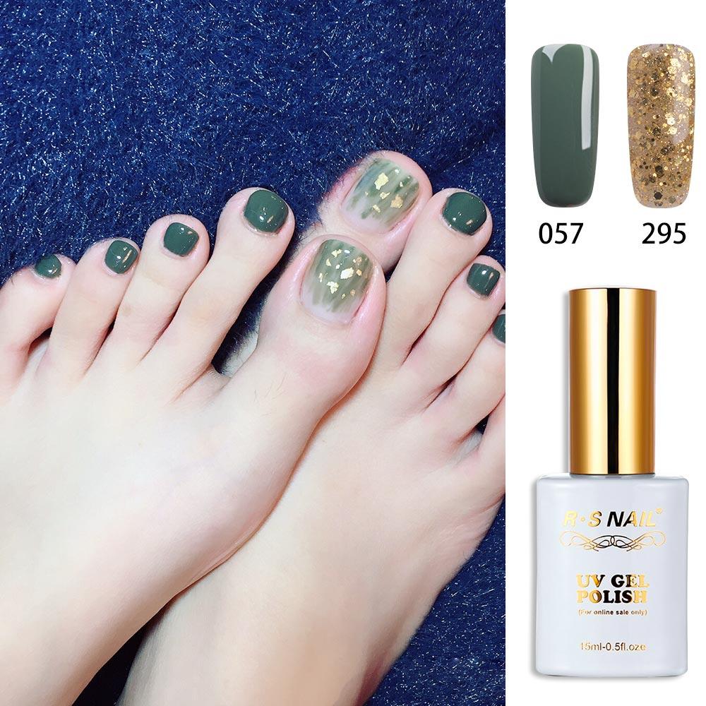 RS 15ml de uñas esmalte de uñas de Gel uv n° 057 + 295 empapa gel de uñas manicura francesa esmalte para una laca de larga duración lámpara led Gel