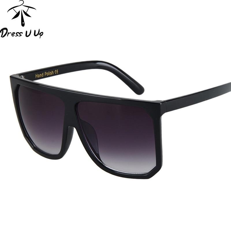 DRESSUUP Luxury Oversized Sunglasses Women Brand Designer 2017 Vintage Square Flat Floral Sun Glasses For Woman Oculos De Sol