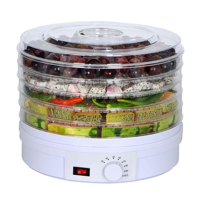 Erva Fruta Vegetal Desidratador de alimentos bandejas de Carne Máquina Lanches Máquina de Secagem Secador de alimentos com 5 UE/REINO UNIDO/EUA Plug 110 V/220 V
