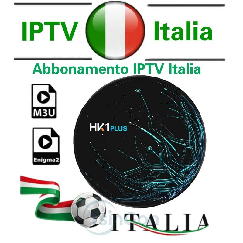 HK1 PLUS 4g64g Italia IPTV M3u abonnement Iptv italie et VOD Mediaset Premium Android Box Smart PC Enigma2 TV box