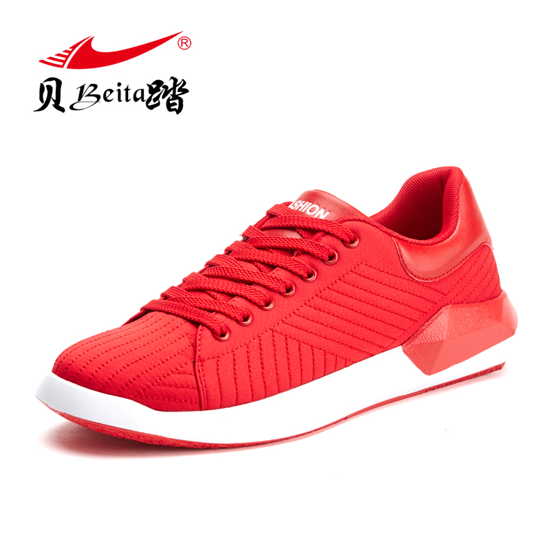 2017 Man Walking Sports Running Shoes On Discount Pure Colors Black Red Colors Male Spring Sneakers Breathable Boys Shoes