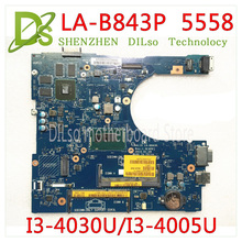 KEFU 5558 CN-0FRV68 For DELL CN-0FRV68 FRV68 5458 5558 5758 Laptop Motherboard I3-4005U/I3-4030U GT920M LA-B843P work 100% цена и фото
