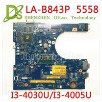 KEFU 5558 CN 0FRV68 For DELL CN 0FRV68 FRV68 5458 5558 5758 Laptop Motherboard I3 4005U/I3 4030U GT920M LA B843P work 100%