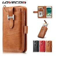 קצה LOVECOM לסמסונג גלקסי S5 S6 S7 S8 פלוס הערה 8 נרתיקי פליפ ארנק עור רטרו 2 ב 1 מקרה טלפון בעל כרטיס שקיות