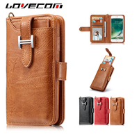 LOVECOM For Samsung Galaxy S5 S6 S7 Edge S8 Plus Note 8 Case Retro Leather 2