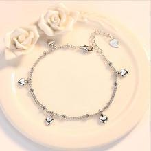 Everoyal Trendy Heart Bracelets For Girls Party Accessories Vintage Silver 925 Women Jewelry Bracelets Female Birthday Gift цена и фото