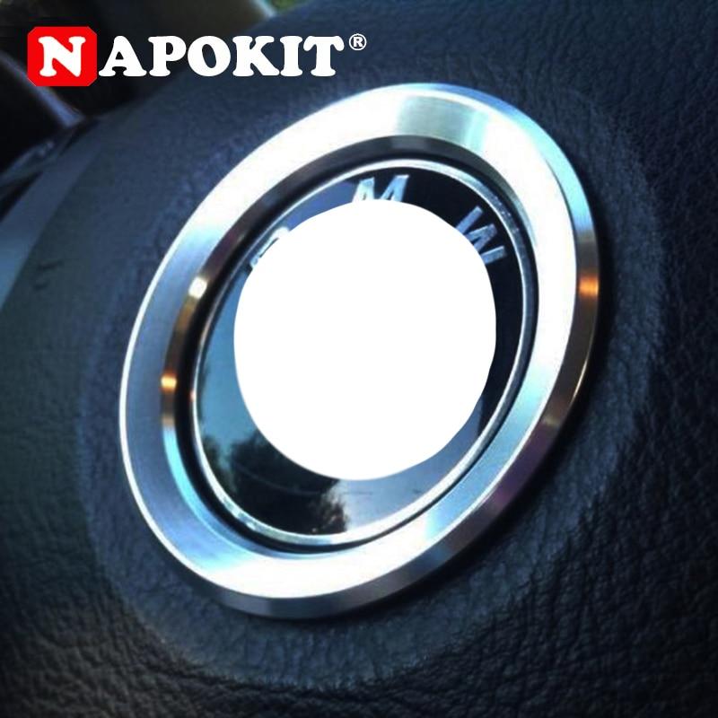 Car Styling Steering Wheel Decoration Circle Cover Sticker For BMW X1 E60 E36 E39 E46 E30 E60 E90 E92 F10 F30 F25 Accessories