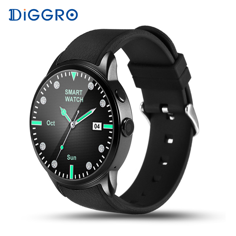Diggro DI01 Smart Watch 1GB+16GB Android 5.1 MTK6580 Heart Rate Monitor Support Wifi 3G GPS SIM Card Camera Business Smartwatch goldenspike x01 plus android 5 1 bluetooth smart watch mtk6572 support 3g wifi gps single sim micro sim heart rate monitor