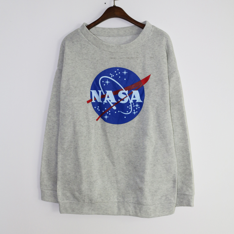 2015 Sports Women Hoodie Sweatshirt Crewneck NASA Letters Print Tracksuit Jogging Tops Gym ...