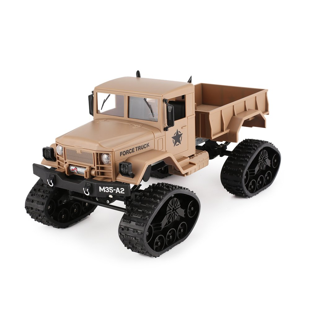 FY001B 2.4Ghz 1/16 4WD Caterpillar Off-road RC Military Truck Climber 4 Wheel Drive Off-Road RC Car Model Crawler RC Car ToyGift