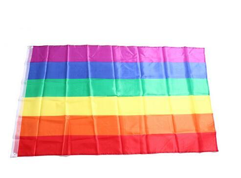 doprava zdarma 300ks / lot Rainbow Flag 3x5 FT Polyester Flag Gay Pride Mírové vlajky LESBIAN PRIDE PEACE Vlajky vlajky