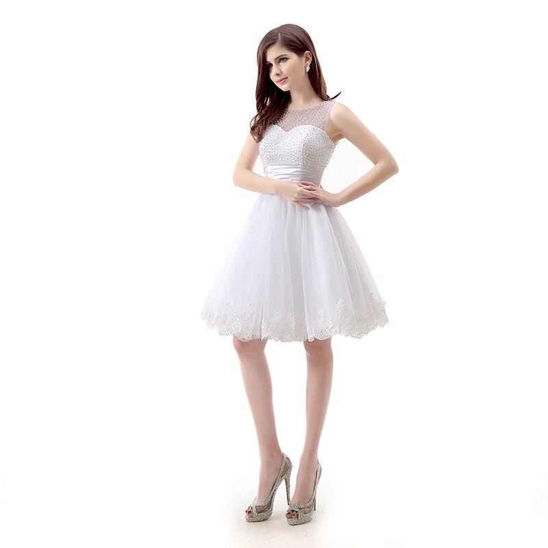Robe De bal courte blanche avec dentelle gonflée robes De grande taille De bal 2019 robe De bal courte robe De bal Sexy Vestidos Elegantes De Gala