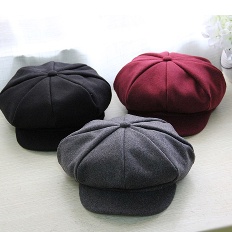a4d325119a6 2017 New Baby Cotton Berets Baby Hats Children Hat Female Beret Pure color Caps  Kid Flat Cap For Boy Girl-in Hats   Caps from Mother   Kids on ...