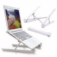 Folding Portable Laptop Stand Two Heights Adjustable Desktop Heighten Notebook Cooling Holder for MacBook 11-15.6 inch