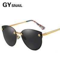 GY ŚLIMAK Marka Vintage Style Bez Oprawek Okularów Przeciwsłonecznych Mężczyzna Soczewka Płaska Plac Rama Kobiety Spolaryzowane Okulary Óculos PC Podróży Mody