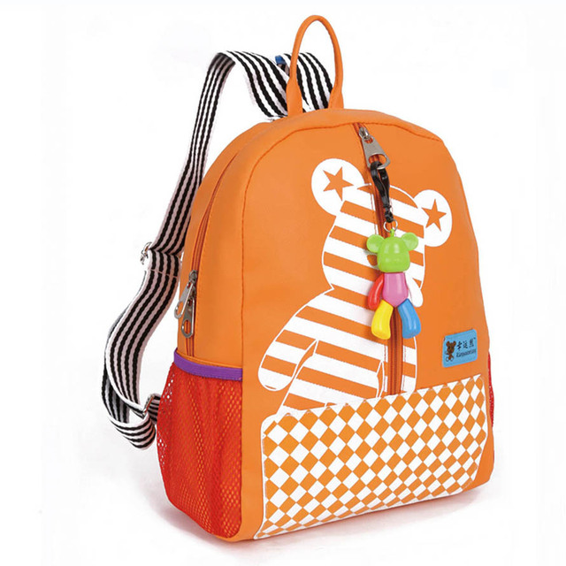 2017 Lucky Bear Design Children School Bags For Girls  Backpack Kids Kindergarten Bag Cartoon Kids Baby Bags Mochila Escolar
