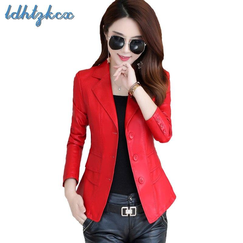 Manteau Color coréen Office red Lady Plus Feminino Cuir Cx06 taro 2018 Femmes Taille Black Automne Noir Manteaux Nouvelle Court Hiver Faux En Veste Slim 76BgqxOnEw