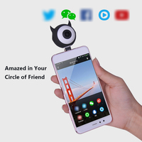 Docooler Fisheye Lens Phone Camera Lense 360 Degree Wider Full View Lens for Android 5.0 Above Xiaomi Huawei Samsung