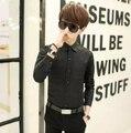 2015 Новый 4 Цвет S-2XL Мода Мужчины Рубашка С Длинным Рукавом Мужская рубашки Camisa Slim Fit Masculina Социальной Сорочка Homme Мужская Рубашка
