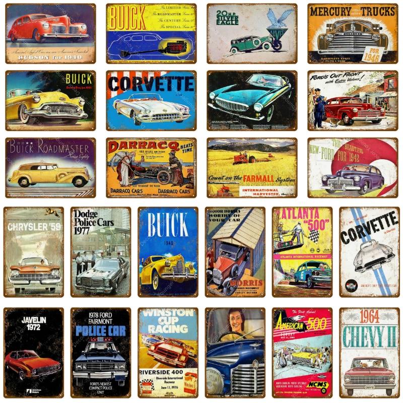 Chevrolet Sign Metal Wall Decor Garage Truck Car Vintage Style Gas Oil Bar Pub 1
