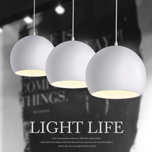 Modern fashion Black & White E27 Pendant lamps for creative Nordic Restaurant/Bedroom Pendant lights AC 90~260V