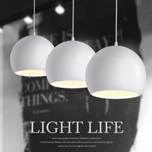 الموضة الحديثة أبيض وأسود E27 مصابيح متدلية لمطعم الشمال الإبداعي/غرفة نوم قلادة أضواء التيار المتناوب 90 ~ 260 فولت