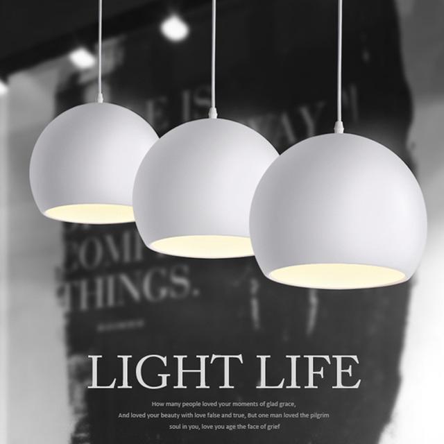 Modern Fashion Hitam & Putih E27 Liontin Lampu untuk Kreatif Nordic Restoran/Kamar Tidur Lampu Liontin AC 90 ~ 260 V