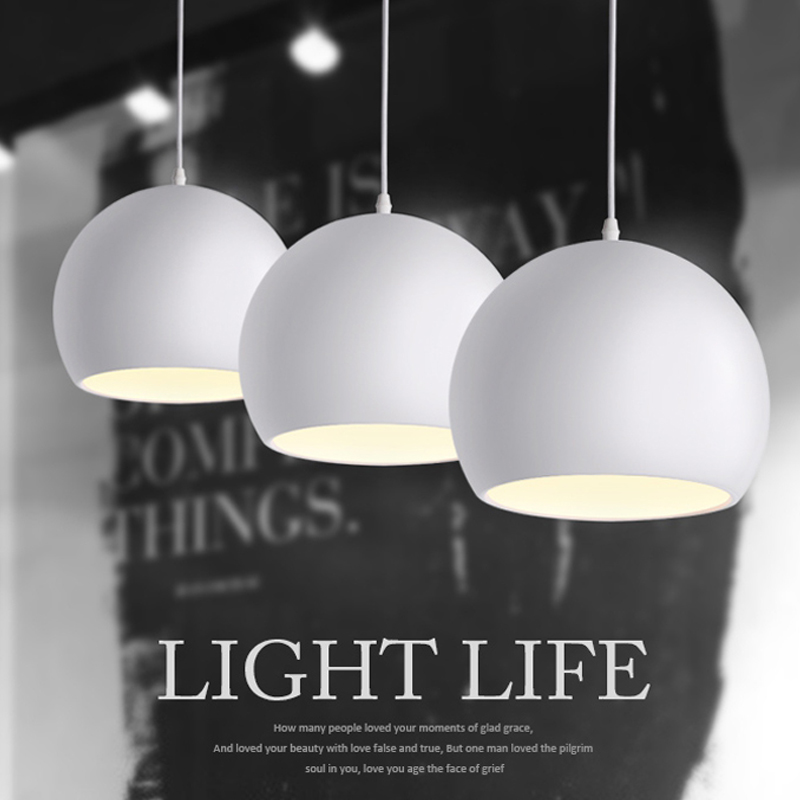Modern fashion Black & White E27 Pendant lamps for creative Nordic Restaurant/Bedroom Pendant lights AC 90~260V [mingben] earth pendant light e27 socket creative arts cafe bar restaurant bedroom home dining room nordic pendant lamps 90 260v