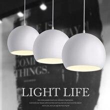 Modern moda siyah ve beyaz E27 kolye lambaları yaratıcı İskandinav restoran/yatak odası kolye işıkları AC 90 ~ 260V