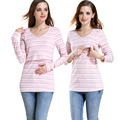 Emotion Moms Patchwork Maternity Clothes for Pregnant Woman in Winter Nursing Clothes Maternity Tops Breastfeeding T-shirt