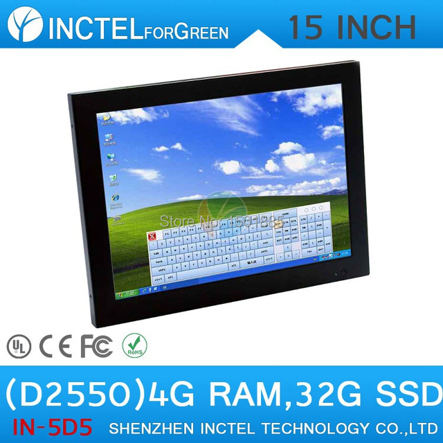 New Model Embedded PC All in One Computer with high temperature 5 wire Gtouch industrial embedded 4: 3 6COM LPT 4G RAM 32G SSD