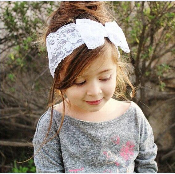 b b fille bandeaux enfants accessoires belle dentelle bowknot bandeau pour infantile 7 couleurs. Black Bedroom Furniture Sets. Home Design Ideas