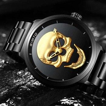 Gimto Unique Design Skull Waterproof Men Quartz Watches 2
