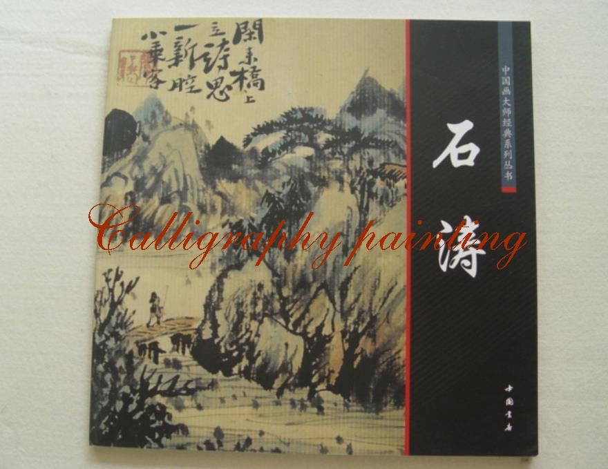 Chinese Brush Ink Painting Calligraphy Sumi-e Album Shi Tao Landscape Xieyi chinese painting brush ink art sumi e album badashanren landscape book