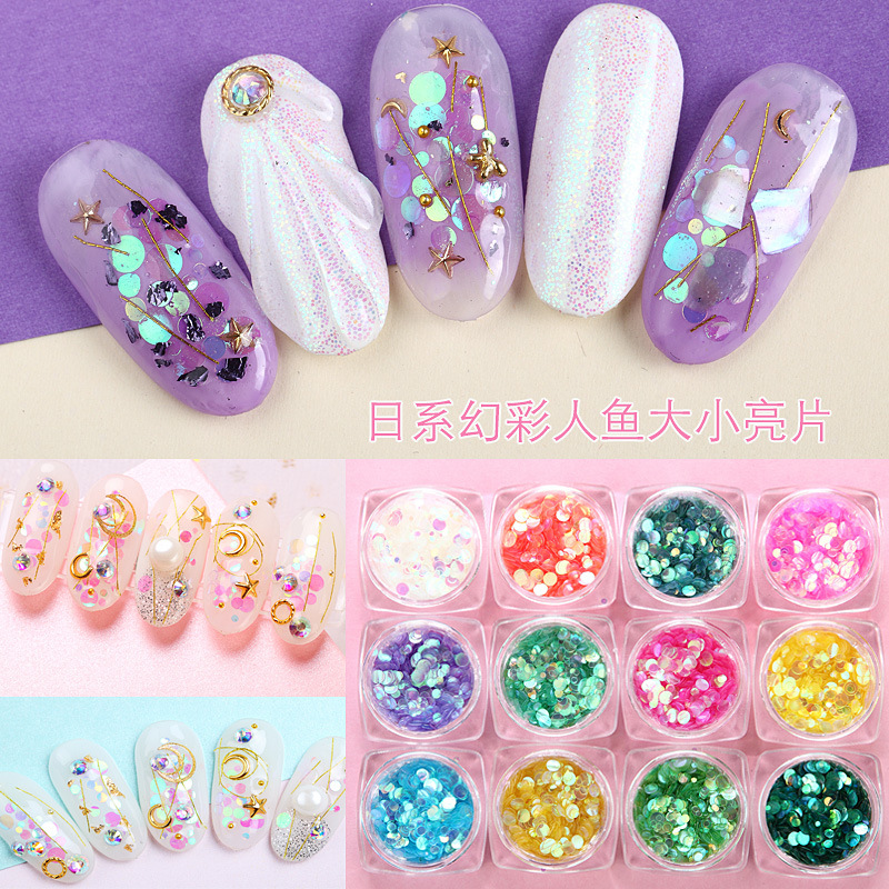 3D diamond nail art circular Sequins dressing Big drill Plain bottom rhinestones for nail Ornamental jewel crystal nails
