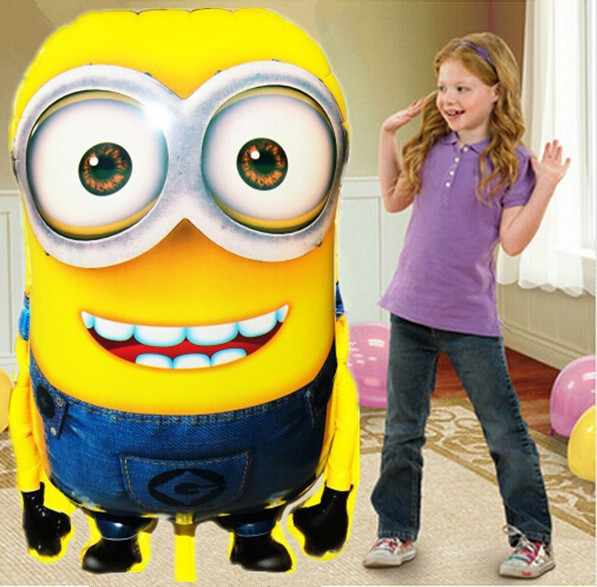 KUWANLE 1pcs 92*65cm Minions Balloons Despicable Me Foil Helium Balloon Birthday Party Supplies Kids Inflatable Toys Decoration