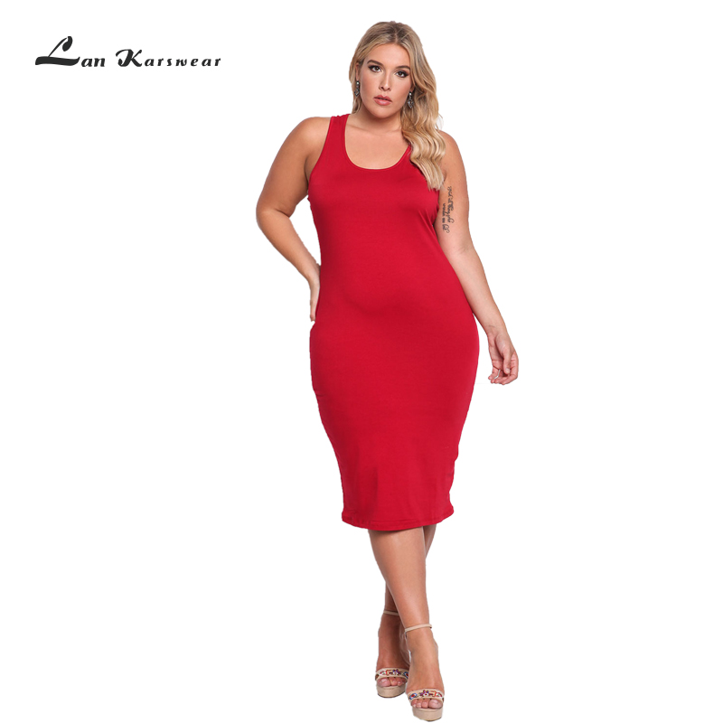 Lan Karswear Summer Sleeveless O-neck Tank Bodycon Dress 2018 Sexy Bandage Dress Celebrity Women Party Night Club Desses Vestido