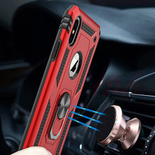 H&A Luxury Magnetic Ring Case On The For iPhone 6 6s 8 7 Plus Phone Cover For iPhone X XS Max XR Case Shockproof Holder Cases(China)