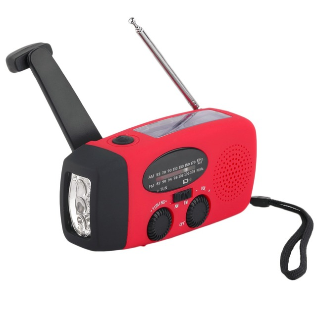 Nueva Solar Radio FM Multifuncional de Emergencia Generador de Manivela Cargador de Teléfono Linterna 3 LLEVÓ La Lámpara de Iluminación AM/FM/WB Radio