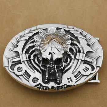 Huge & Heavy 316L Stainless Steel Handmade AVP Predator Mens Belt Buckle 10A01 - DISCOUNT ITEM  0% OFF All Category