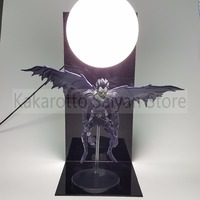 Death Note Ryuuku Action Figures Toy With Moon DIY Anime Death Note Yagami Collectible Model Toy+Bulb+Base