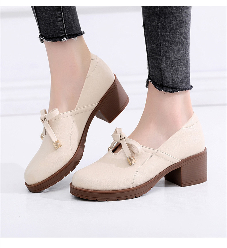 04b06b78c0a Detail Feedback Questions about Medium Square Heel Bow Shallow Pumps ...