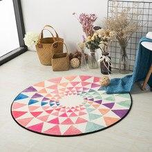 Европейское креативное круглое ковровое покрытие для гостиной компьютерный коврик на стул и на пол детская палатка коврик для гардеробной и ковров стол