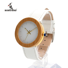 BOBO BIRD J26 New Arrival Top Brand Design Wood Watches for Womens Leather Band Ladies Gold Wrist Watch