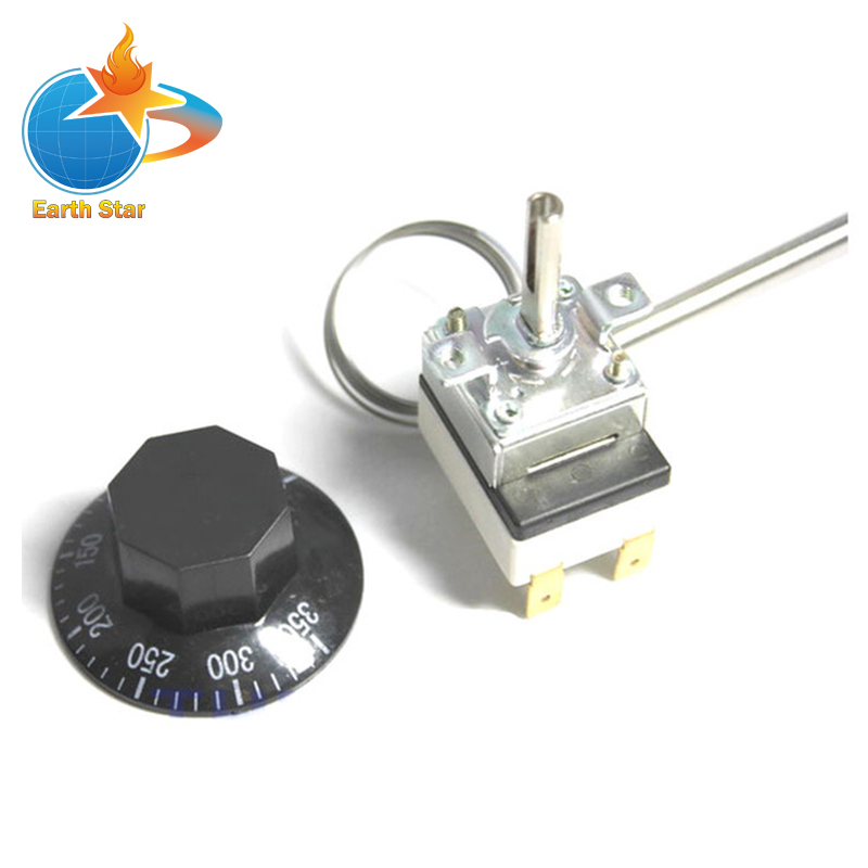 2m 50-300 Degree F New Heater Thermostat,Frying Pan Thermostat,Temperature Control,Electric Deep Fryer Parts 2 6l air fryer without large capacity electric frying pan frying pan machine fries chicken wings intelligent deep electric fryer