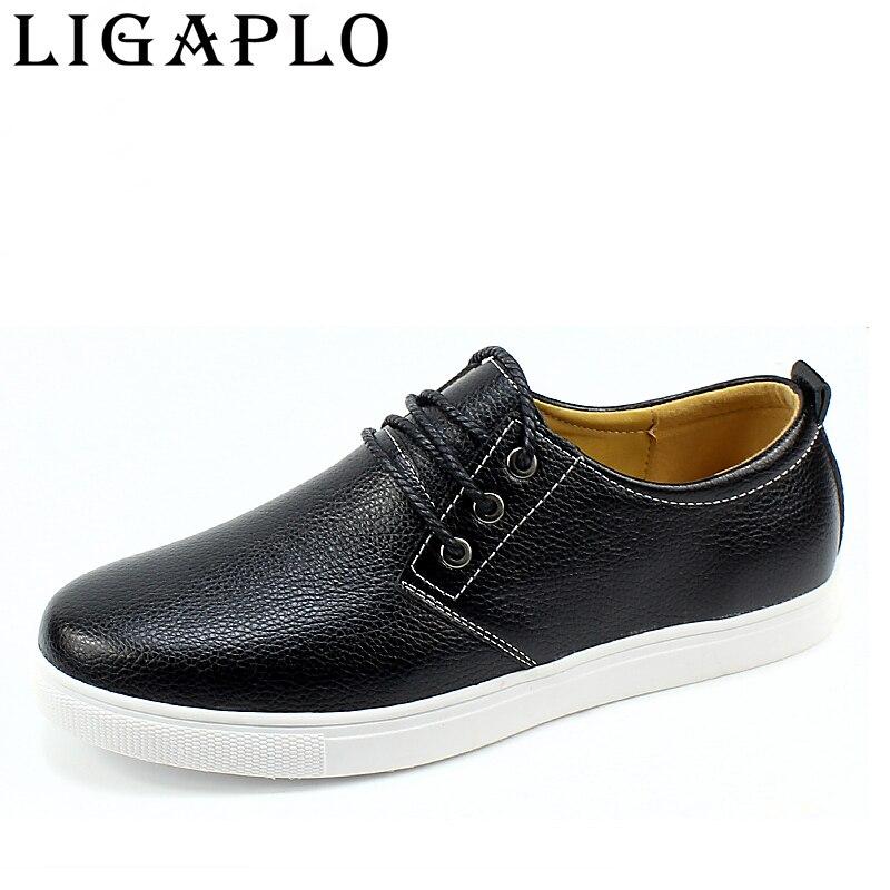Hombres Zapatos 2017 Nuevo Cuero viscosa Plana Zapatos Hombre Moda Calzado Casua