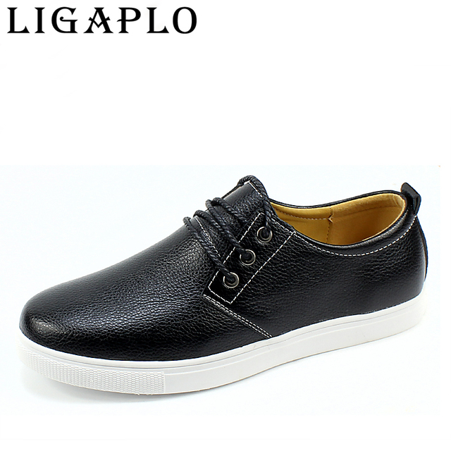 Men Shoes 2017 New viscose Leather Flat Zapatos Hombre  Men's Fashion Casual Shoes Solid Male Footwear For Men leisure shoes