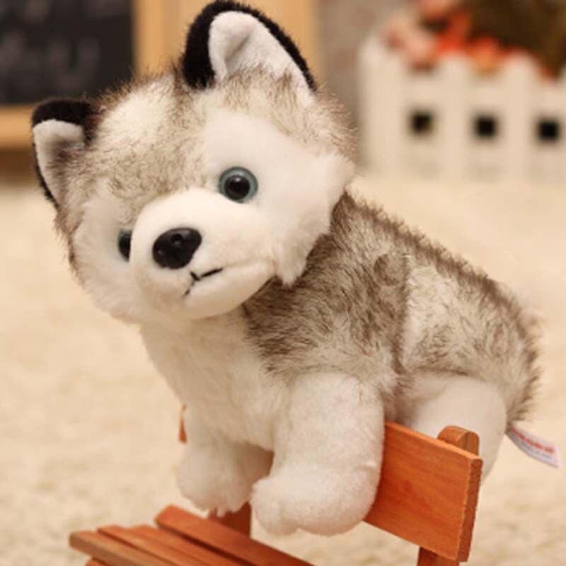 Hot Sale Kawaii Puppy Simulation Stuffed Doll Husky Dog Plush Toys Stuffed Toys 20cm Cute Kid Baby Toys Plush Husky Dolls#251221