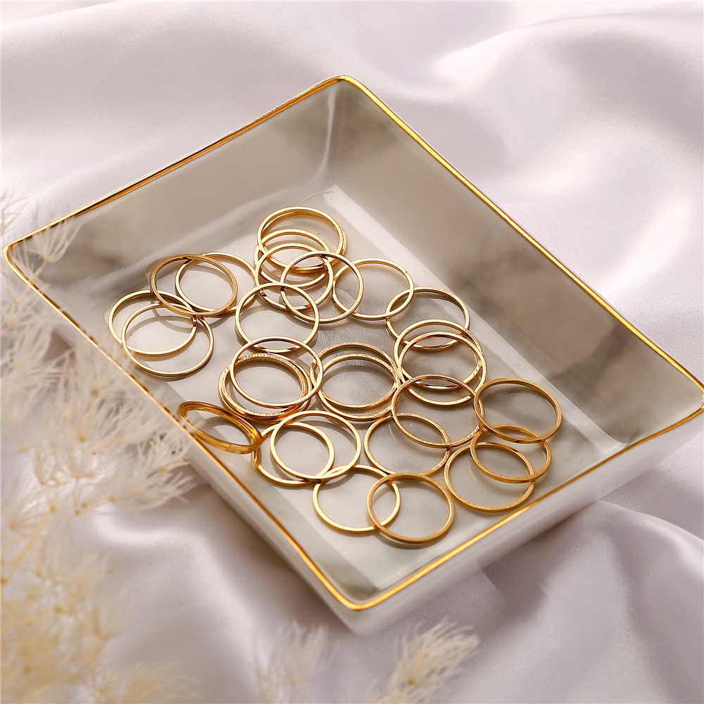 IF YOU 30pcs/set Single Fashion Round Rings For Girl Women Men Finger Swimming Ring Vintage Statement Wholesale Jewelry 2019 New